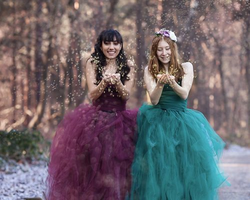 Outdoor Glitter Photo Shoots | Building Self-Confidence